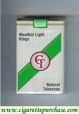 Discount CT Menthol Light cigarettes natural tobaccos