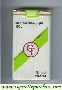Discount CT Menthol Ultra Light 100s cigarettes