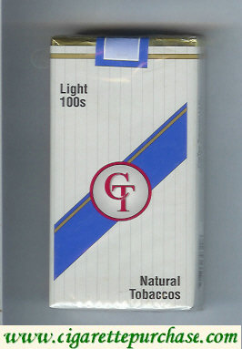 Discount CT light 100s cigarettes natural tobaccos