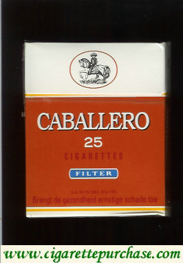 Caballero 25 cigarettes filter with small cowboy
