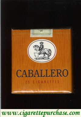 Caballero 25 cigarettes short with small cowboy