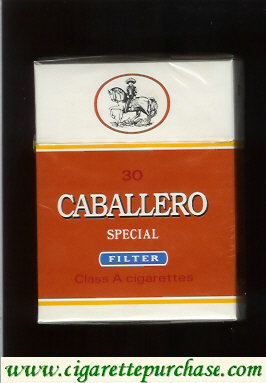 Caballero Special filter 30 cigarettes with small cowboy