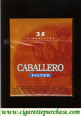 Caballero filter 25 cigarettes with big cowboy