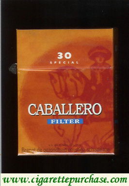 Caballero filter 30 cigarettes Special with big cowboy