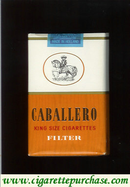 Caballero king size cigarettes filter with small cowboy