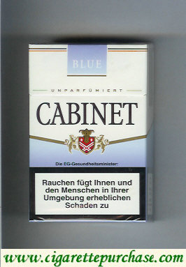Discount Cabinet Blue cigarettes