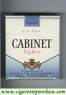 Discount Cabinet Lights cigarettes big box