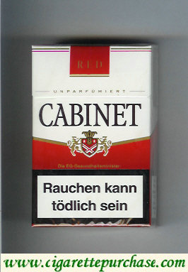 Discount Cabinet Red cigarettes