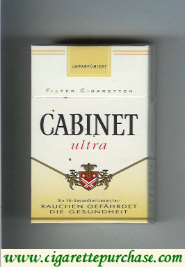 Discount Cabinet Ultra cigarettes