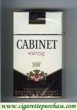 Discount Cabinet Wurzig 100s cigarettes