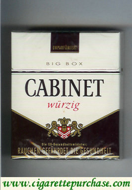 Discount Cabinet Wurzig cigarettes big box