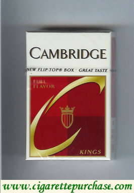 Discount Cambridge Full Flavor cigarettes kings