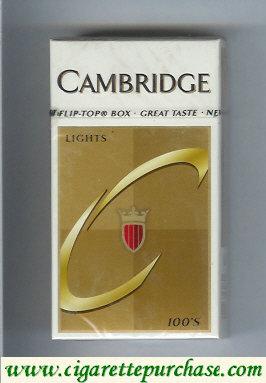 Discount Cambridge Lights 100s cigarettes hard box