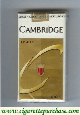 Cambridge Lights 100s cigarettes soft box