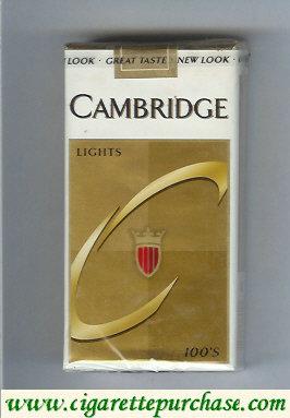 Discount Cambridge Lights 100s cigarettes soft box