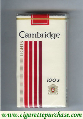 Discount Cambridge Lights 100s cigarettes