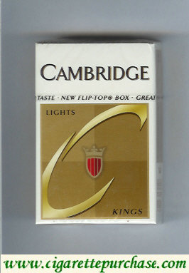 Cambridge Lights cigarettes kings hard box