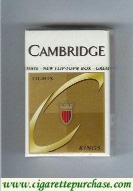 Discount Cambridge Lights cigarettes kings hard box