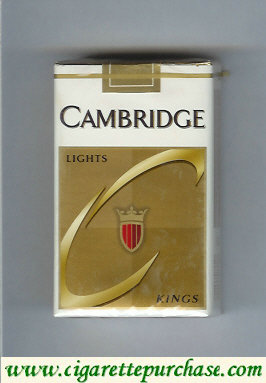Cambridge Lights cigarettes kings soft box