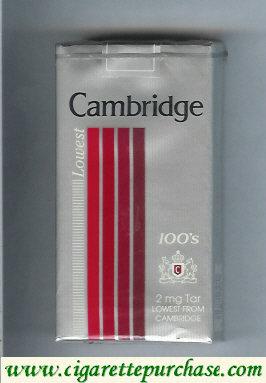 Discount Cambridge Lowest 100s cigarettes
