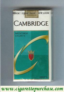 Discount Cambridge Menthol Lights 100s cigarettes soft box