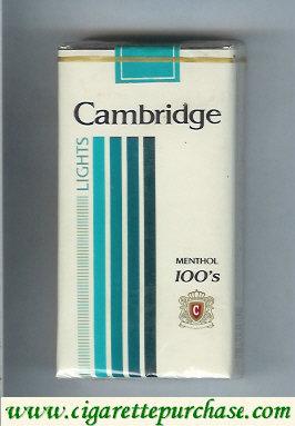 Discount Cambridge Menthol Lights 100s cigarettes