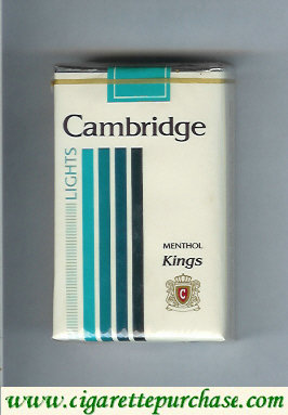 Cambridge Menthol Lights cigarettes kings