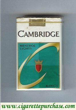 Discount Cambridge Menthol Lights cigarettes