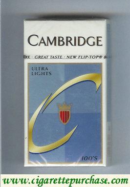 Discount Cambridge Ultra Lights 100s cigarettes