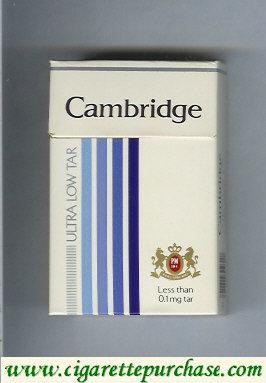 Discount Cambridge Ultra Low Tar cigarettes