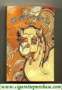 Discount Camel Art Issue Lights cigarettes hard box