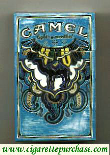 Discount Camel Art Issue Menthol Lights cigarettes hard box