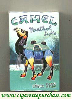 Discount Camel Art Issue Menthol Lights side slide cigarettes hard box