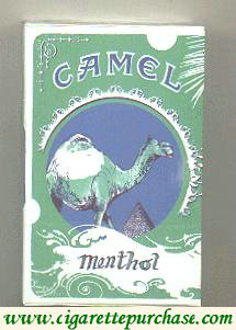 Discount Camel Art Issue Menthol side slide cigarettes hard box
