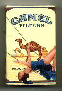 Camel Casino Issue side slide cigarettes hard box