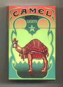Discount Camel Cigarettes Art Issue Menthol Lights hard box