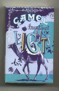 Discount Camel Cigarettes Art Issue Menthol Lights side slide hard box