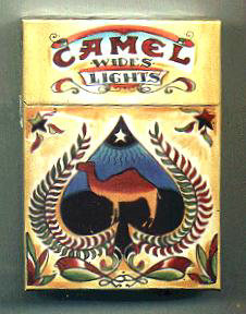 Camel Cigarettes Wides Lights Art Issue hard box