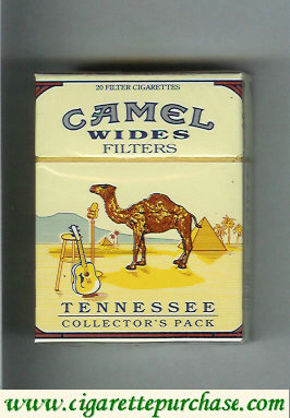 Camel Collector Pack Tennessee Wides Filters cigarettes hard box