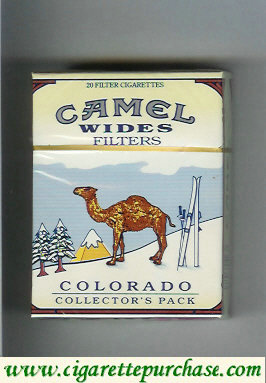 Discount Camel Collectors Pack Colorado Wides Filters cigarettes hard box