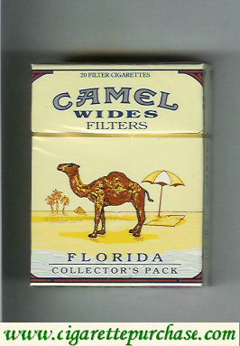 Discount Camel Collectors Pack Florida Wides Filters cigarettes hard box