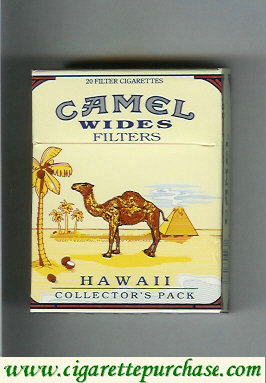 Discount Camel Collectors Pack Hawaii Wides Filters cigarettes hard box
