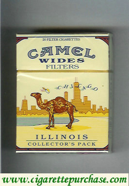 Discount Camel Collectors Pack Illinois Wides Filters cigarettes hard box