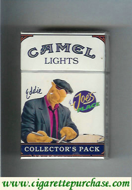 Discount Camel Collectors Pack Joes Place Eddie Lights cigarettes hard box