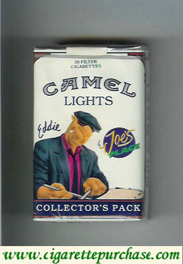 Discount Camel Collectors Pack Joes Place Eddie Lights cigarettes soft box