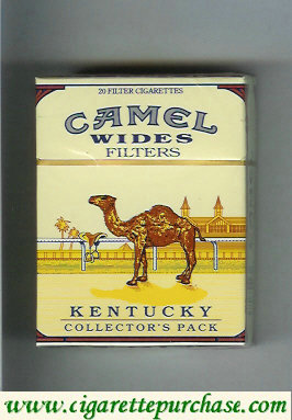 Discount Camel Collectors Pack Kentucky Wides Filters cigarettes hard box