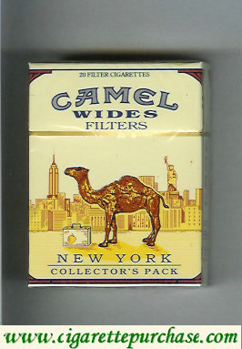 Discount Camel Collectors Pack New York Wides Filters cigarettes hard box