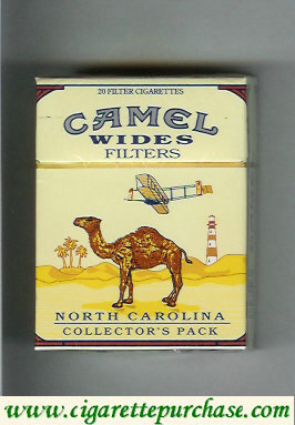 Discount Camel Collectors Pack North Carolina Wides Filters cigarettes hard box