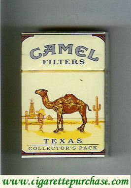 Discount Camel Collectors Pack Texas Filters cigarettes hard box