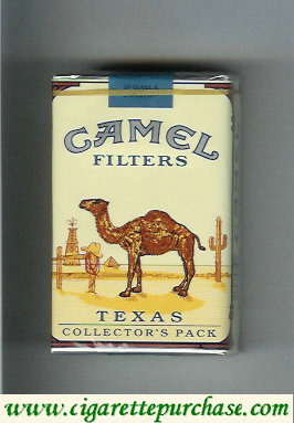 Camel Collectors Pack Texas Filters cigarettes soft box